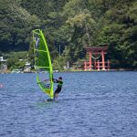 Enjoy Windsurfing   on Nojiri Lake