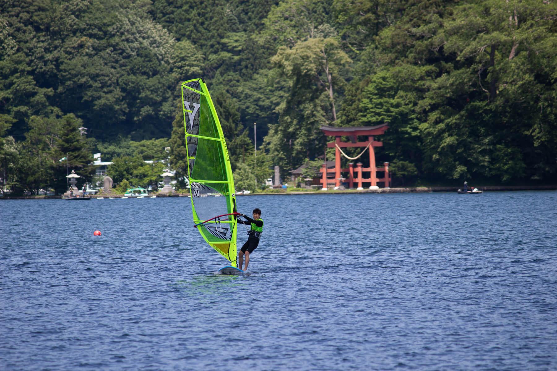 Enjoy Windsurfing   on Nojiri Lake