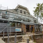 Lodge Facade  facelift underway