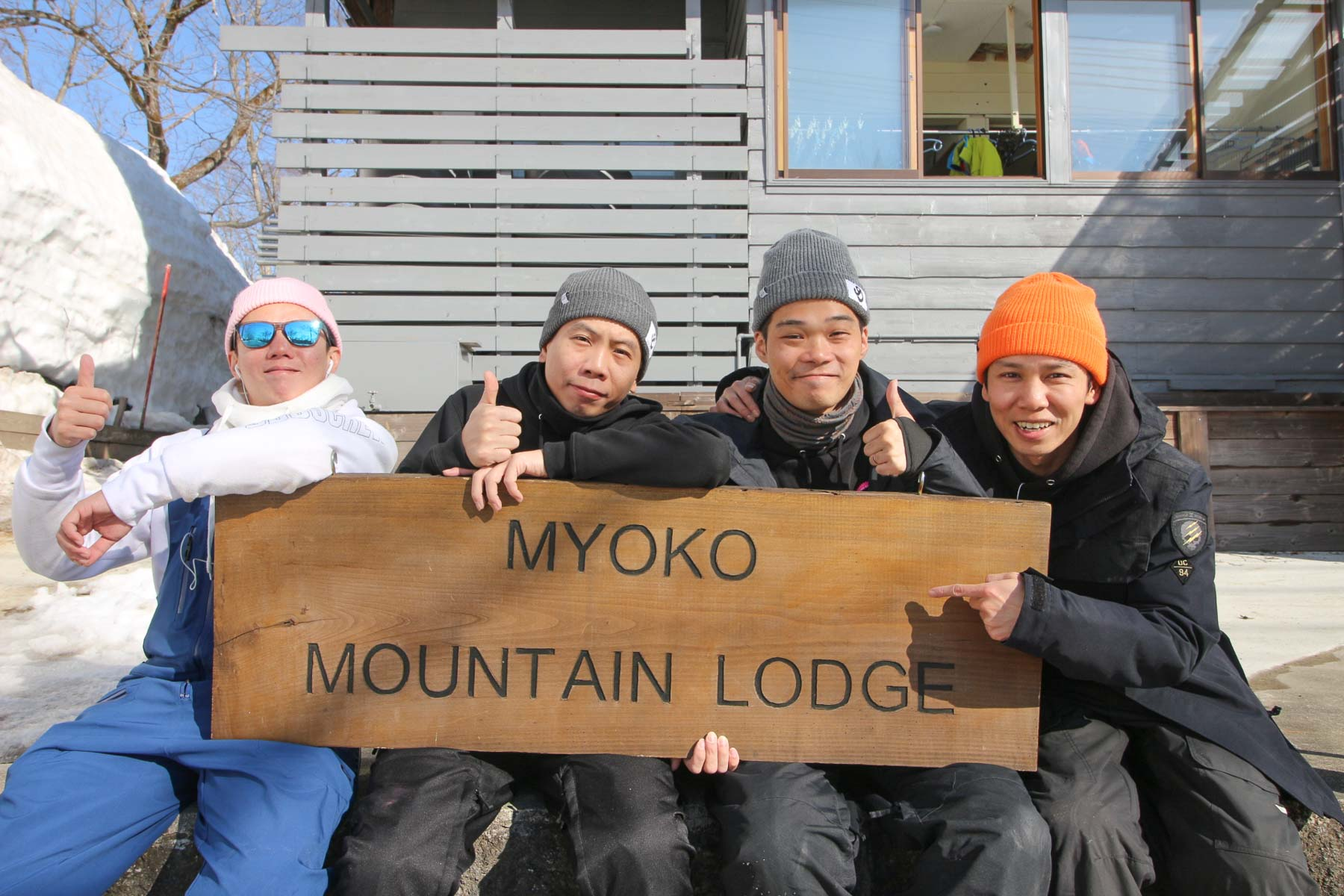 The snowboard training squad from Hong kong, Steve,Joe, Blackson & Shun.