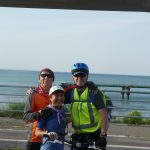 End of a 64km ride along the Japan Sea